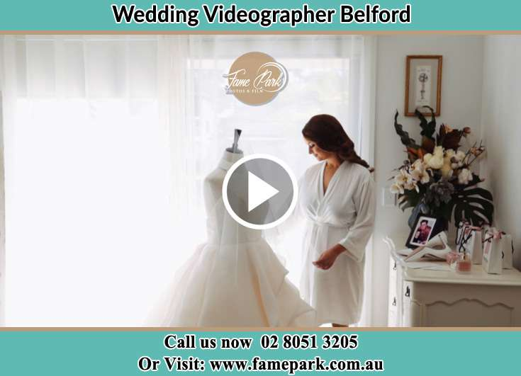 The Bride checking her wedding dress Belford NSW 2335