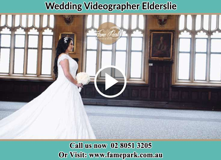 The Bride walking down the hallway Elderslie NSW 2570
