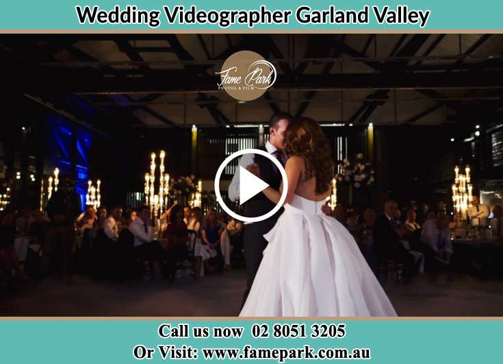 The newlyweds dancing on the dance floor Garland Valley NSW 2330