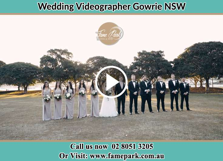 The newlyweds and their entourage smiles for the camera Gowrie NSW NSW 2060
