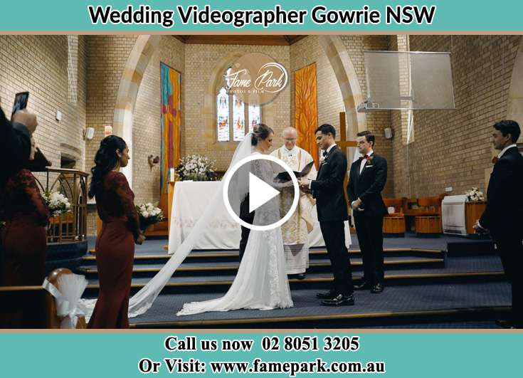 During the wedding ceremony Gowrie NSW NSW 2060