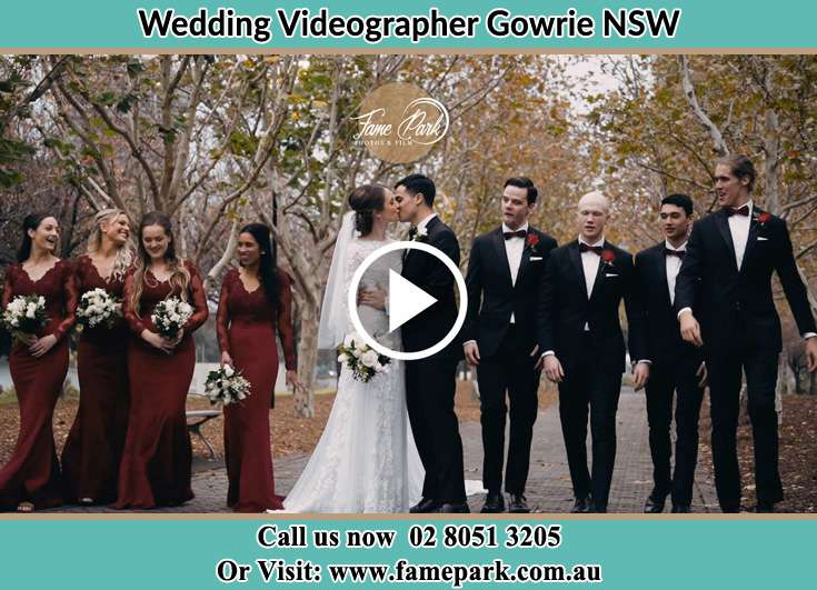 The entourage watch the new couple kissing Gowrie NSW NSW 2060