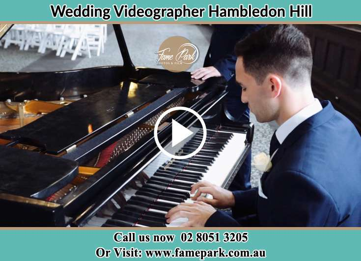 The Groom playing the piano Hambledon Hill NSW 2330