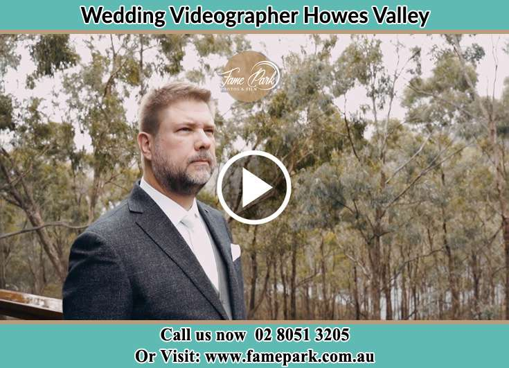The Groom waiting for the Bride Howes Valley NSW 2330
