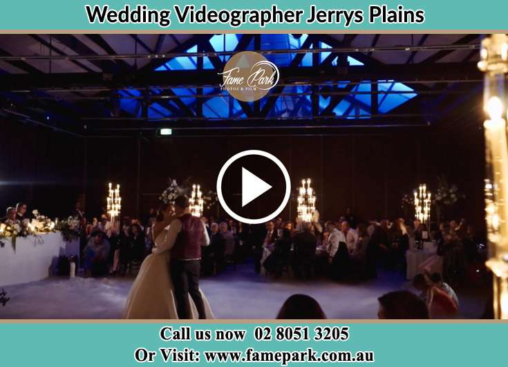 The newlyweds dancing on the dance floor Jerrys Plains NSW 2330