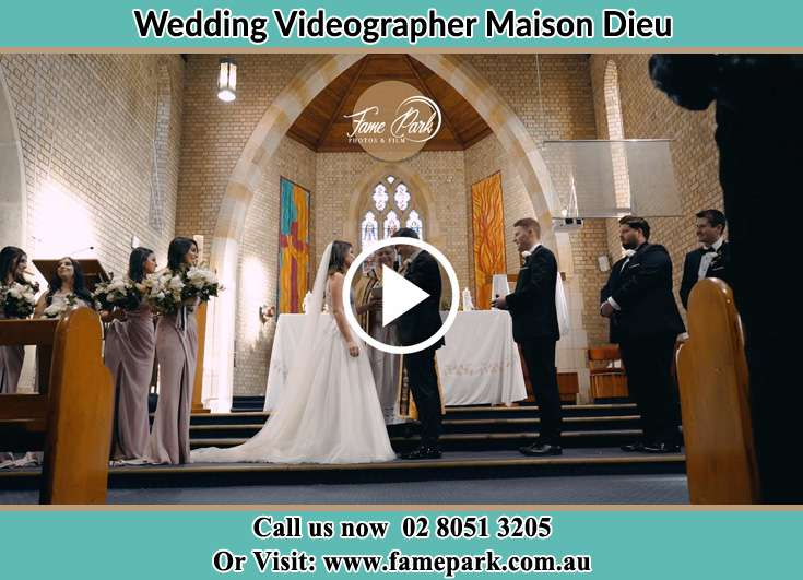 During the wedding ceremony Maison Dieu NSW 2330