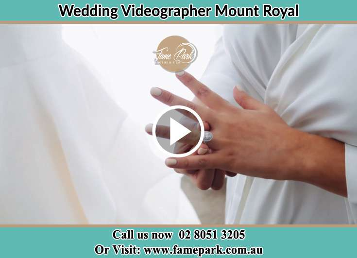 The ring worn by the Bride Mount Royal NSW 2330