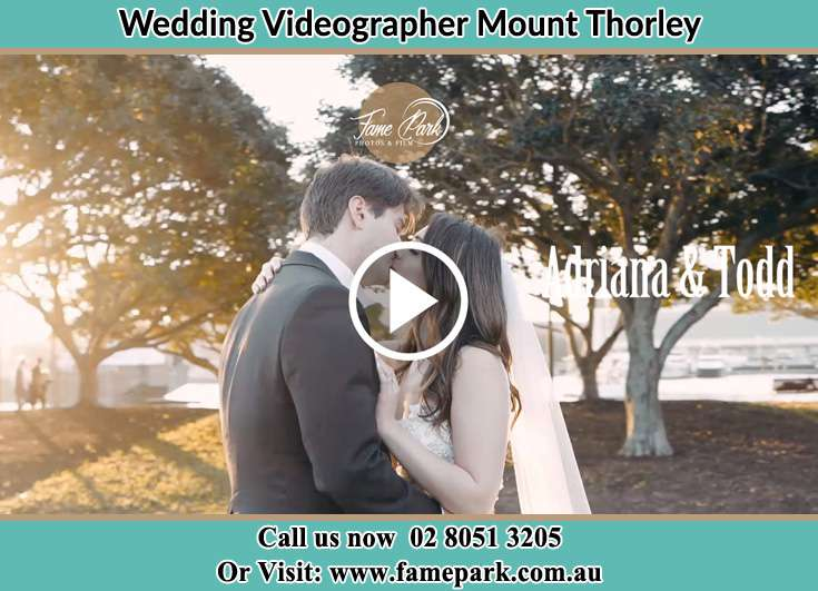 Bride and Groom kissed at the park Mount Thorley NSW 2330