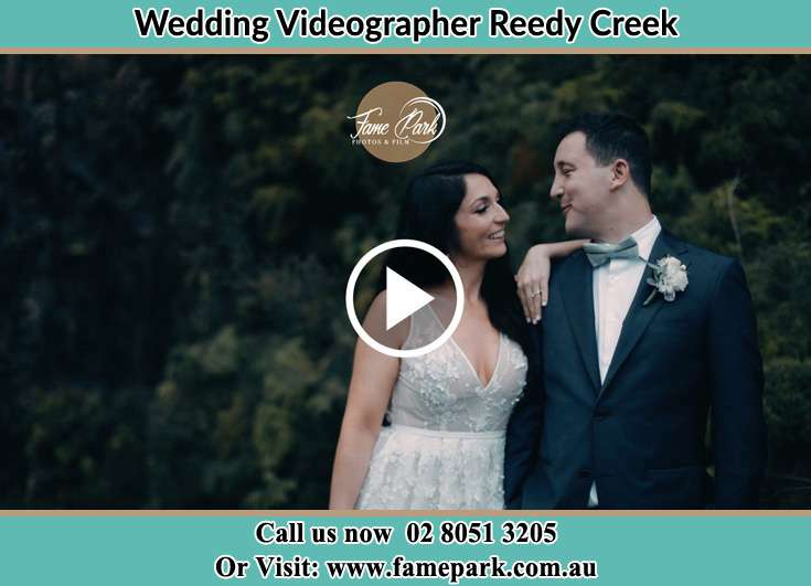 Bride and Groom at the garden Reedy Creek NSW 2330