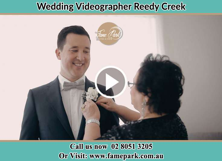 Groom already prepared with his mother Reedy Creek NSW 2330