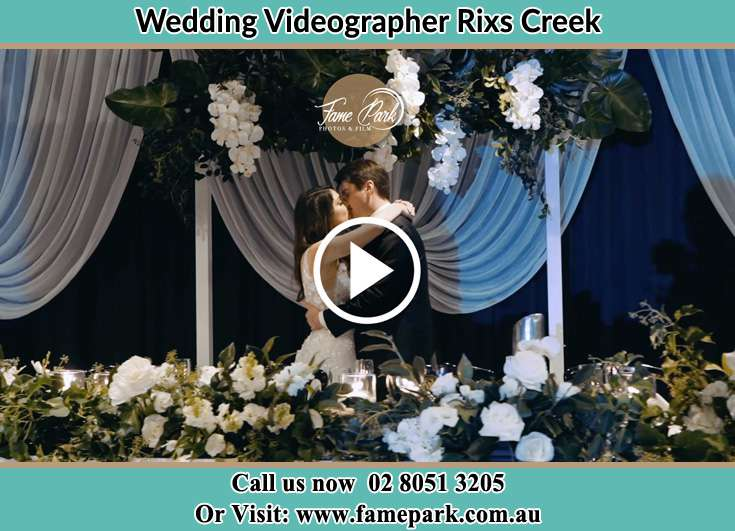 Bride and Groom kissed at the reception Rixs Creek NSW 2330