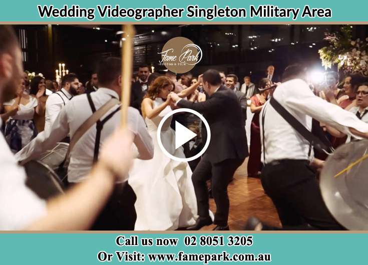 The new couple dancing on the dance floor with the band Singleton Military Area NSW 2330